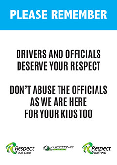 Officials and Drivers deserve your respect