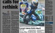 Lovasi causes karts shock &#8211; <i>From the Townsville Bulletin</i>