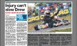 Injury can't slow Drew &#8211; <i>From the Central Coast Advocate</i>