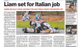 Liam set for Italian job &#8211; <i>From the Waverley Leader</i>