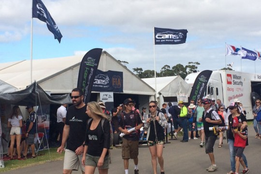 SUCCESSFUL KARTING DISPLAY AT V8 SUPERCARS OPENER IN ADELAIDE