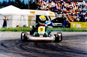 James Courtney on his way to winning the 1995 World Junior Championship in Portugal