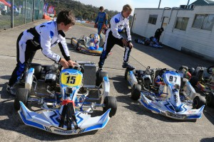 KF3 drivers Lochie Hughes and Harrison Hoey (Pic: Coopers Photography)