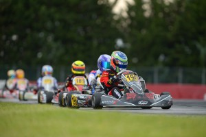 Aaron Cameron in action at the CIK-FIA World KF-Junior Championship (Pic: KSP)