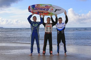Kremers (right) is aiming to take a Winners surfboard back to The Netherlands after this weekend's Race of Stars (Pic: Coopers Photography)