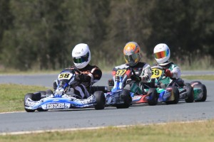 James Litzow (front) on his way to victory in KA1 for CRG. (Pic: Coopers Photography)