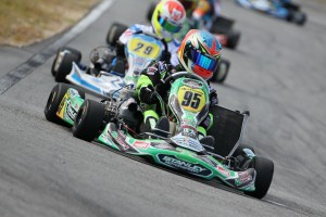 Jake Klarich on his way to victory in the final round of the WA KZ Series