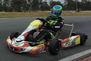 Reigning KA1 Champion Liam McLellan got his first taste of the new Vortex DVS engine on Thursday.