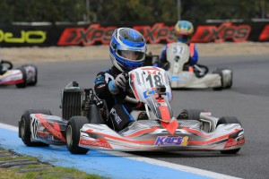 The experience of Cody Brewczynski worked in his favour, picking up two wins in the final two heat races in Junior Max (Pic: Coopers Photography)