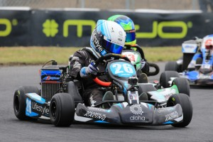 Kai Allen took a clean sweep of wins after qualifying second in Mini Max (Pic: Coopers Photography)