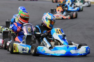 Kody Garland was a surprise performer in Rotax Light, qualifying second and taking the win in heat three (Pic: Coopers Photography)