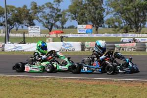 The Shamick Racing CRG team-mates Kai Allen (26) and James Wharton kept it close throughout the AKC weekend! (Pic: Coopers Photography)