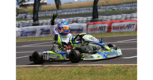 Harrison Hoey made an impressive debut for Compkart Australia and Z Corse by taking a comfortable victory in the KA2 category – Credit: Coopers Photography