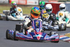 Round 1 winner Cody Gillis picked up where he left, qualifying fastest and winning both heat races in Rotax 125 Light (Pic: Coopers Photography)
