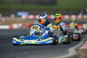 Oscar Piastri behind the wheel of his Ricky Flynn Motorsport entry in the OK-Junior class (Pic: KSP)