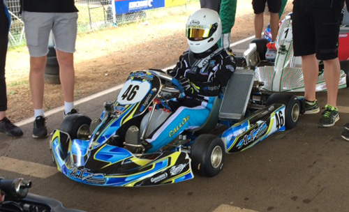 Jackson Callow in the AWC Motorsport Academy colours