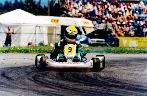 James Courtney on his way to victory in the 1995 World Junior Karting Championship