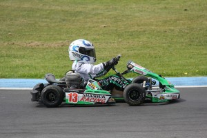 One of the young participants in action during the 2015 Junior Sprockets program