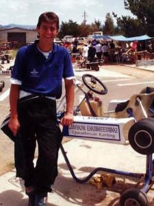 Mark Webber during his karting career