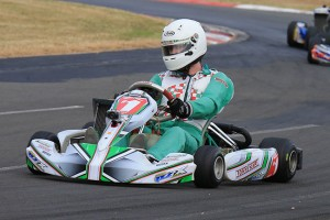 Chris Farkas proved unstoppable in Rotax 125 Heavy despite multiple challenges from Lane Moore and Shay Mayes (Pic: Coopers Photography)