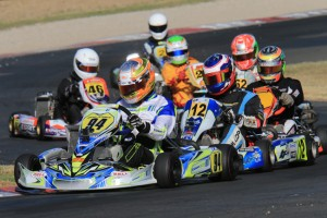 CompKart's Brad Jenner returned to the winners circle in an eventful Rotax 125 Light Final (Pic: Coopers Photography)