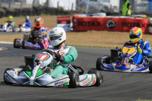 In his return to Rotax 125 Heavy, Chris Farkas showed a strong performance with a clean sweep of wins (Pic: Coopers Photography)