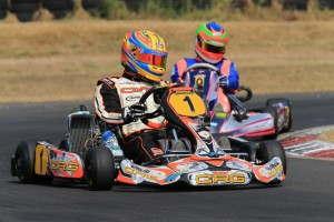Reigning Rotax MAX Australian Challenge Champion in Rotax Light Pierce Lehane dominated in his return to the class with a clean sweep (Pic: Coopers Photography)