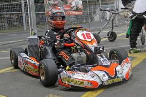 Canberra's Sebastian Ruiz continued his good start to the season in Micro Max securing pole position (Pic: Rotax Media)