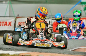 CRG'S Pierce Lehane (1) took victory in the one race that counted (Pic: Ian Ward)