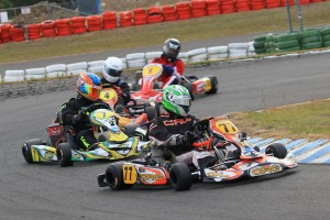 Brett Robinson proved too good for his opposition in the TaG 125 Heavy class