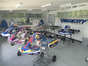 Inside Velocity Kart Shop at Eastern Creek