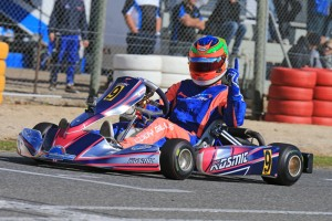 Cody Gillis was the form driver on finals day in Rotax 125 Light taking the round win and blue plate (Pic: Coopers Photography)