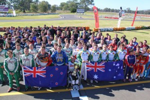 The inaugural Jason Richards Memorial held at Albury Wodonga in 2012. The award was presented to Troy Woolston, with Kyle Ensbey taking victory in DD2 and winning the Jason Richards Cup (Pic: Rotax Media)