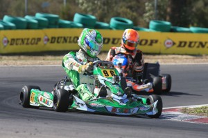 Melbourne's David Sera leads the way in the KZ2 standings entering the final round next weekend (Pic: Coopers Photography)