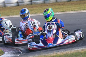 Can the man from Geelong hold off the #18 of Cody Brewczynski in Junior Max. (Pic: Coopers Photography)