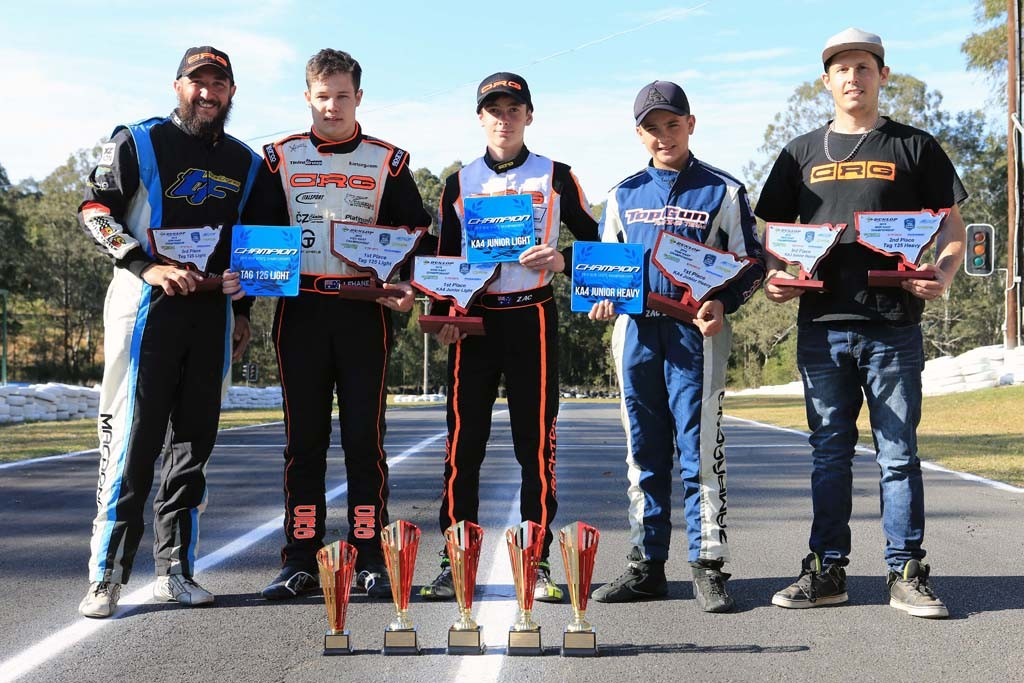 CRG drivers Thomas MacDonald, Pierce Lehane, Zac Crichton, Zac Zamprogno, Brett Robinson (Pic: Coopers Photography)