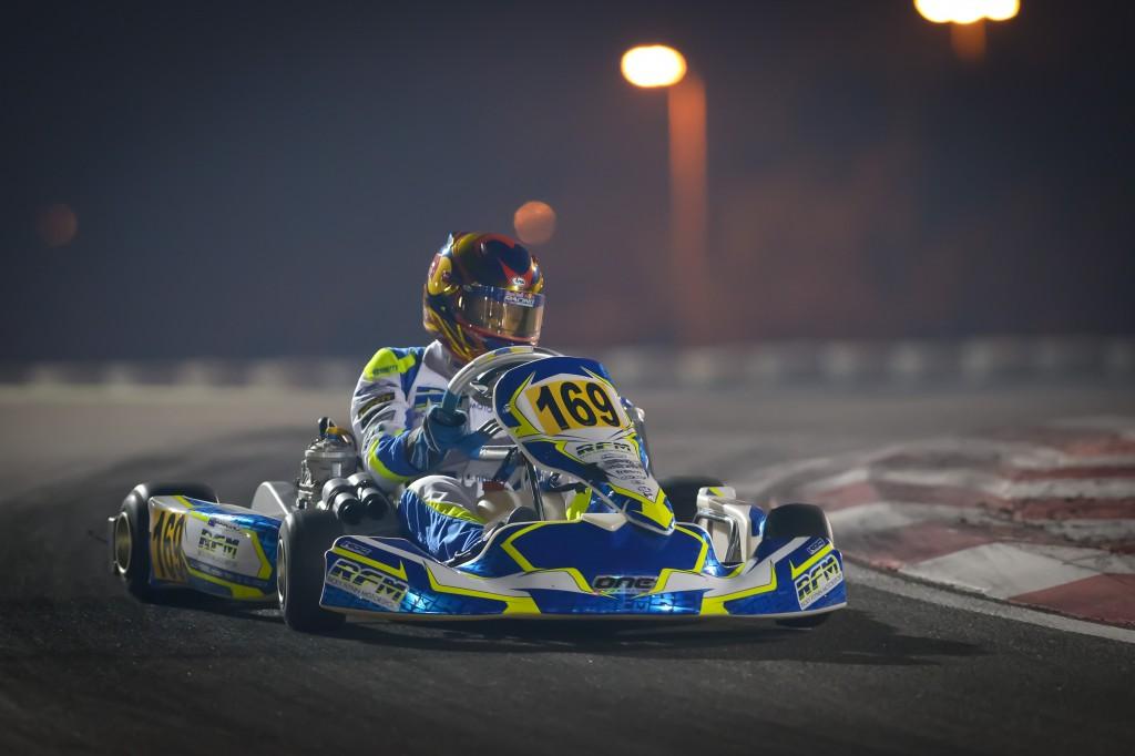 Australian Jack Doohan on action during the World OK-Junior Championship in Bahrain (Pic: KSP)