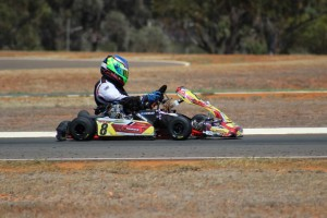 Peter Newland on his way to victory in Kalgoorlie