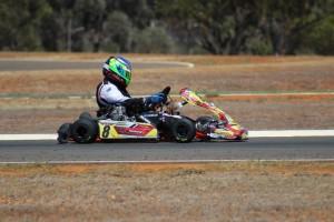 Peter Newland on his way to victory in Kalgoorlie