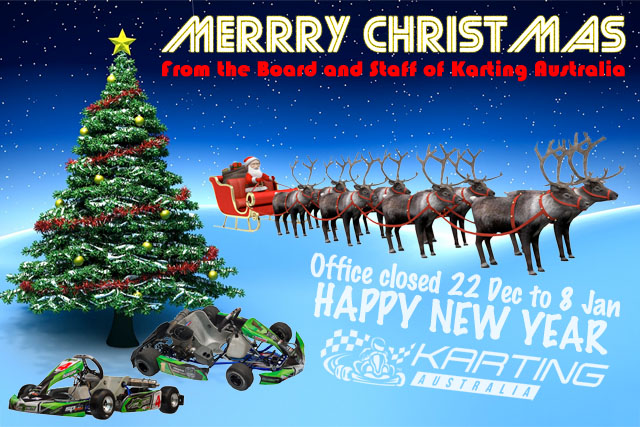 merry christmas from karting australia - When Is Christmas In Australia