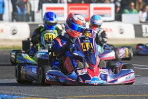 Local Driver Jonathon Mangos holds the hometown advantage in the ultra-competitive Rotax 125 Light category (Images Coopers Photography)