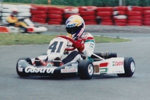 Mark Winterbottom in action during his junior karting days