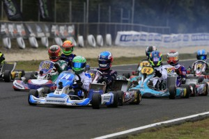 Ricciardo Kart driver Jace Matthews leading the way in KA1 (Pic: Coopers Photography)