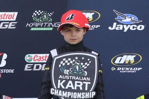 Cadel Ambrose - Junior Sprockets Graduate and Round winner in the Australian Kart Championship