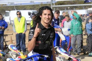Matt McLean was all smiles after his victory in KA3 Senior (Pic: Coopers Photography)