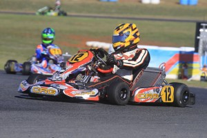 Local driver Daniel Price qualified fastest in KZ2 (Pic: Coopers Photography)