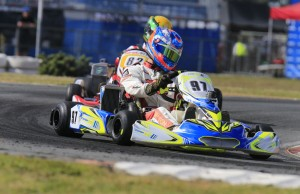 Harrison Hoey won two of the three Junior Max heats ton Saturday
