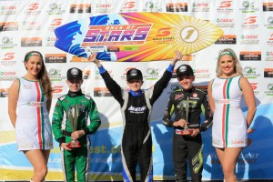 The KA4 Junior podium at the 2016 Race of Stars event (Pic: Coopers Photography)