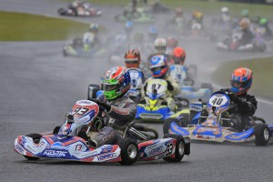 Kosmic kart driver Broc Feeney has set the pace in Junior Max (Pic: Coopers Photography)