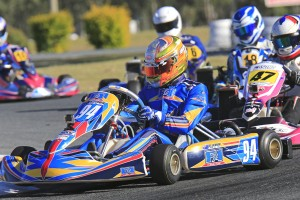 Last round winner in Rotax Light Brad Jenner (Pic: Coopers Photography)